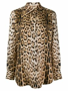 Roberto Cavalli leopard print shirt - Neutrals