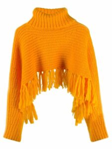 Kenzo tassel hem cropped jumper - ORANGE