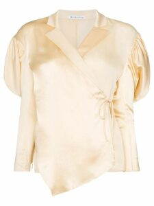 Rejina Pyo wrap-style puff-shoulder blouse - IVORY