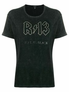 R13 Back in Black logo T-shirt