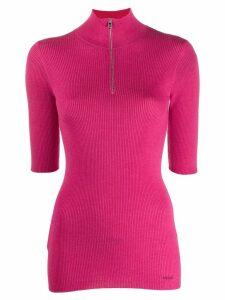 Prada half-zip knitted top - PINK