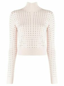 LIU JO studded turtleneck sweater - PINK