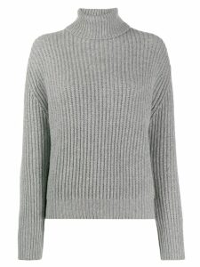 Brunello Cucinelli ribbed turtleneck jumper - Grey