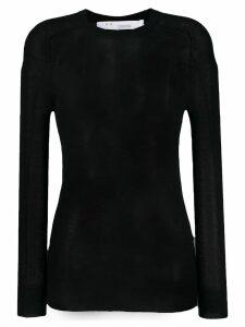 IRO sheer cashmere top - Black