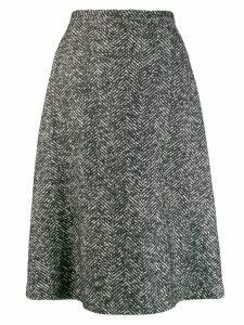 Rochas knitted patterned skirt - Black