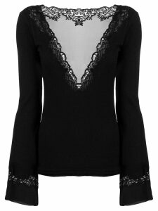 Ermanno Scervino lace inserts jumper - Black