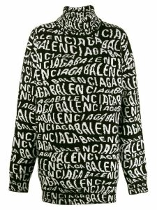 Balenciaga turtleneck logo sweater - Black