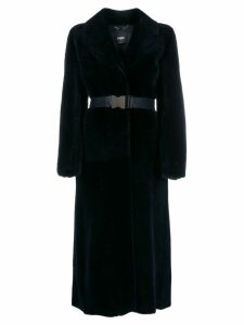 Fendi wrap-style belted coat - Blue