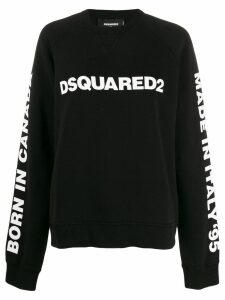 Dsquared2 logo print oversized sweatshirt - Black