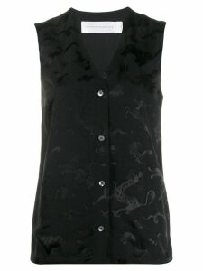 Victoria Victoria Beckham animal jacquard sleeveless shirt - Black
