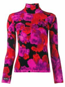Richard Quinn floral turtleneck top - Red