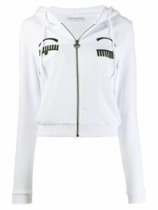 Chiara Ferragni Flirting zipped hoodie - White