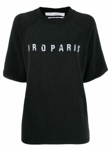 IRO decayed logo T-shirt - Black