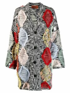 Missoni fringed-detail long cardigan - Black