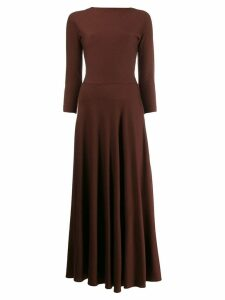 Aspesi long-sleeve maxi dress - Brown