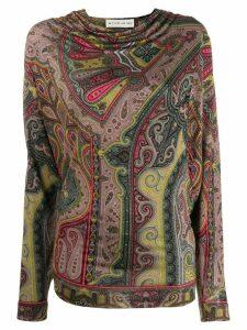 Etro paisley print jumper - Green