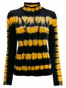 Proenza Schouler Tie Dye Velvet Turtleneck Top - Black
