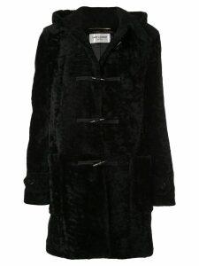 Saint Laurent shearling duffle coat - Black