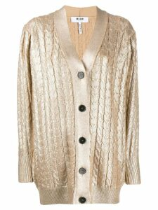 MSGM cable knit cardigan - GOLD