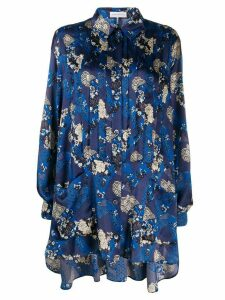 Faith Connexion multi-print longline shirt - Blue