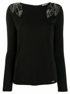 LIU JO crystal embellished sweater - Black