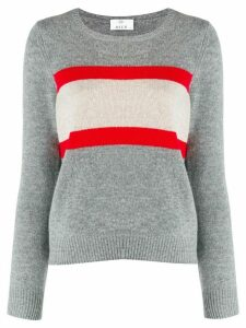 Allude colour-block knit sweater - Grey