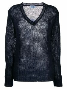 Prada open knit jumper - Blue