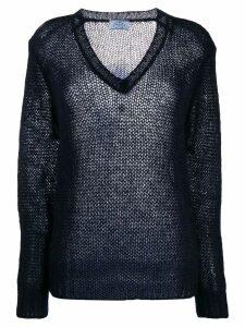 Prada open knit jumper - Blue