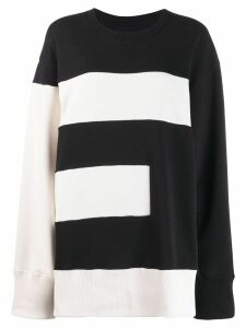 Mm6 Maison Margiela oversized sweatshirt - Black