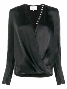 3.1 Phillip Lim Pearl Embellished Blouse - Black
