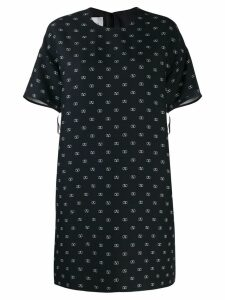 Valentino logo print shift dress - Black