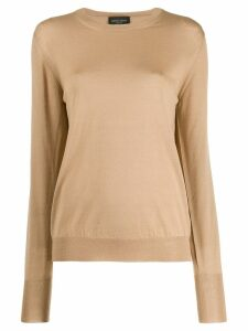 Roberto Collina slim-fit wool sweater - NEUTRALS