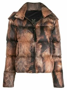 Mr & Mrs Italy zipped padded jacket - NEUTRALS