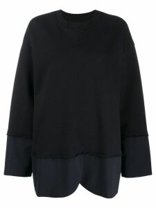 Mm6 Maison Margiela contrast hem sweatshirt - Black