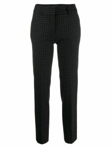 Piazza Sempione check tailored trousers - Black