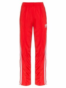 adidas tri-stripe track pants - Red