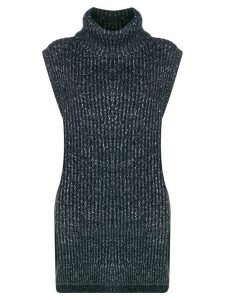See By Chloé sleeveless turtleneck top - Blue