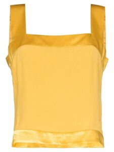 USISI Gail square neck top - Yellow