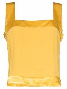 USISI Gail square neck top - Yellow