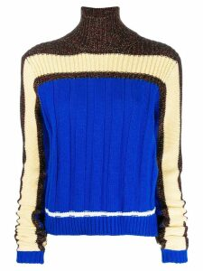 Plan C panelled knit sweater - Blue