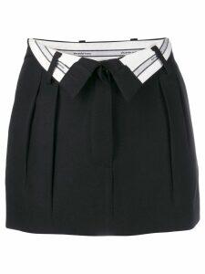 Alexander Wang open waist mini skirt - Black