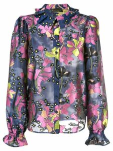 Stine Goya printed Autumn shirt - Blue