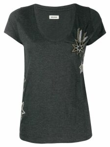 Zadig & Voltaire embroidered T-shirt - Grey
