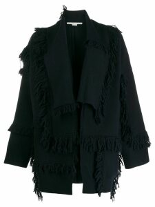 Stella McCartney shaggy-knit layered cardigan - Blue