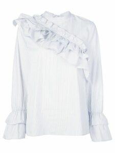 Baum Und Pferdgarten long-sleeved ruffled blouse - Blue