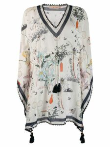 Tory Burch 'Poetry of Things' beach cover-up - White