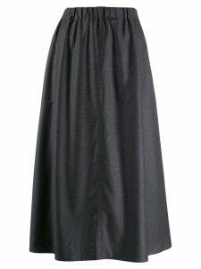 Sofie D'hoore flared Suwon skirt - Grey