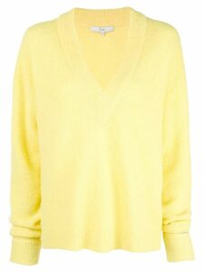 Tibi oversized V-neck jumper - Yellow