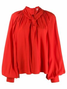 A.W.A.K.E. Mode wide sleeved blouse - Red