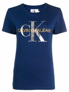 Calvin Klein Jeans metallic logo print T-shirt - Blue